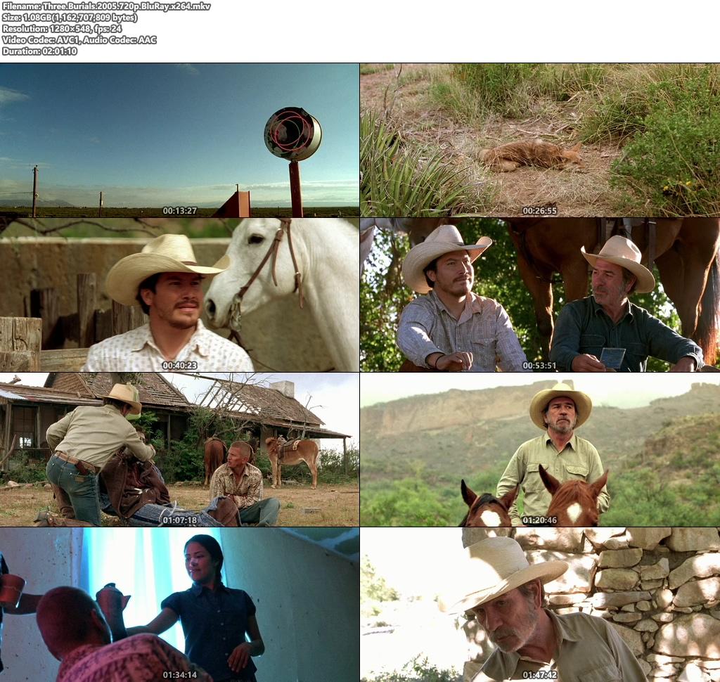 Three Burials 2005 720p BluRay x264 | 480p 300MB | 100MB HEVC Screenshot