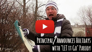 Watch principal snow announce the school holidays with let it go frozen parody via geniushowto.blogspot.com school holidays parody videos