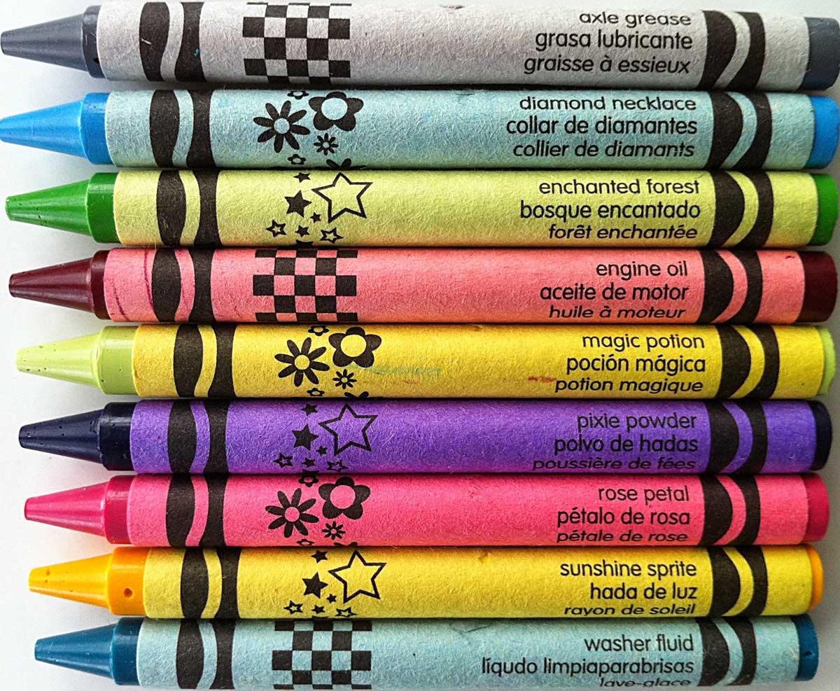 The Crayon Blog Rare And Not Rare A Visual Look At Crayola Crayon