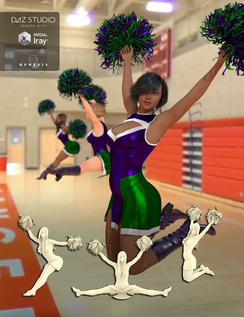 Cheer Fantasy High School Cheerleader Poses