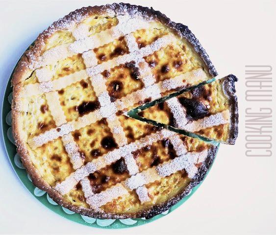 torta al grano cotto {cooked wheat cake}