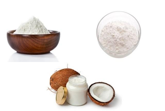 Minyak Kelapa, Tanah diatom (diatomaceous earth) Dan Tepung maizena (cornstarch)