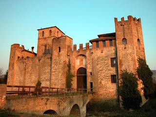 The 13th century Valbona Castle at Lozzo Atestino