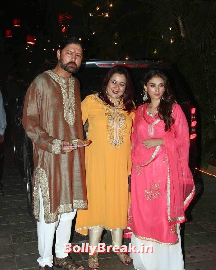 Aditi Rao Hydari, Photos from Amitabh Bachchan's Diwali Bash 2014