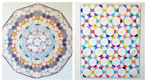 Fun Size EPP Quilt Kits by Tales of Cloth - Pirouette Quilt Kit and Bon Bon Quilt Kit