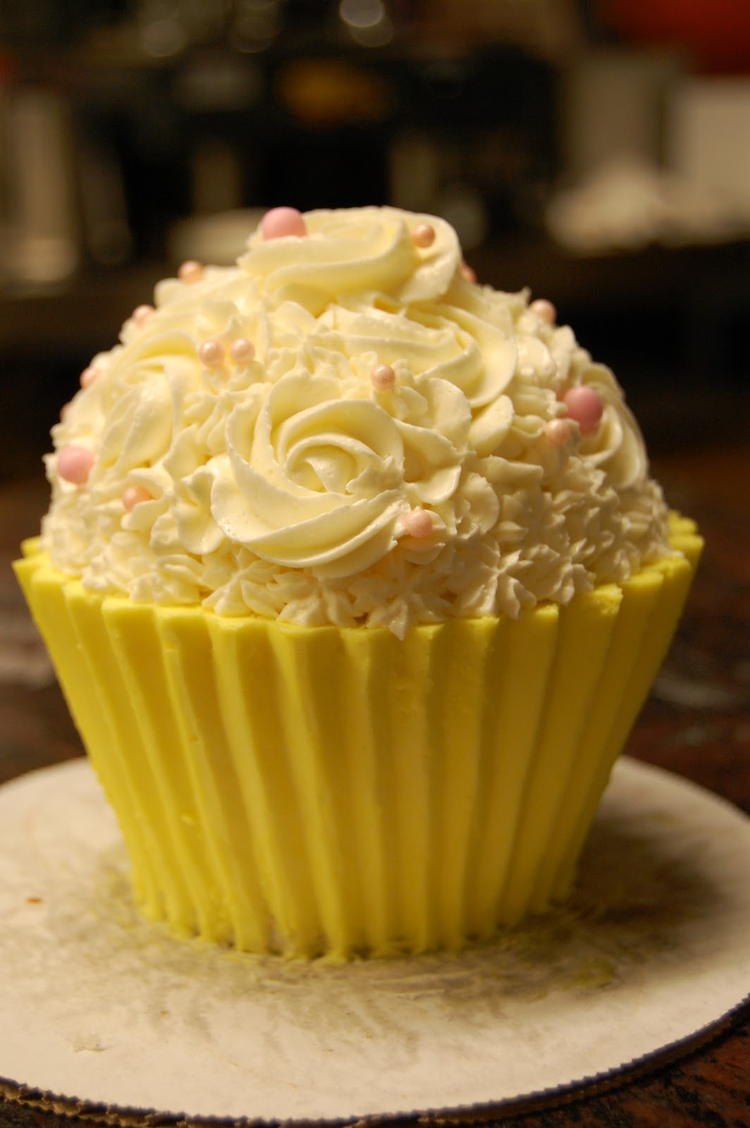 I LOVE Making These Its A Cake Shaped Like Cupcake This One Was Super Small Only About 4 At Widest Point