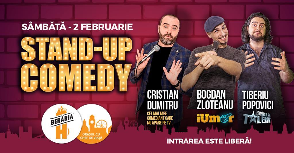Stand-Up Comedy Sambata 2 Februarie Beraria H