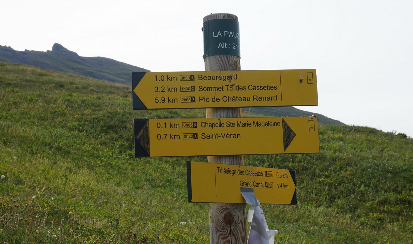 Signpost above St-Véran
