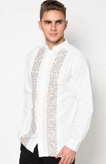 baju koko Batik kombinasi Polos