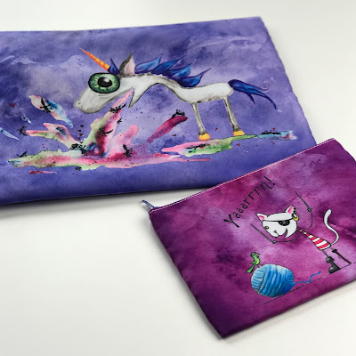 Bags with Artwork by Emily Martian