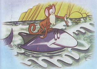 fabula el mono y el delfin