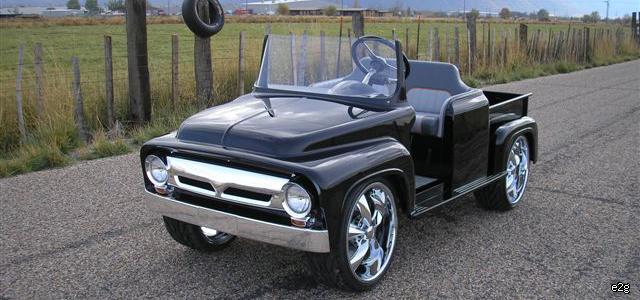 The '56 retro truck golf cart