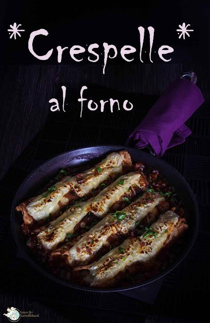 gebackene herzhafte, italienische Pfannkuchen