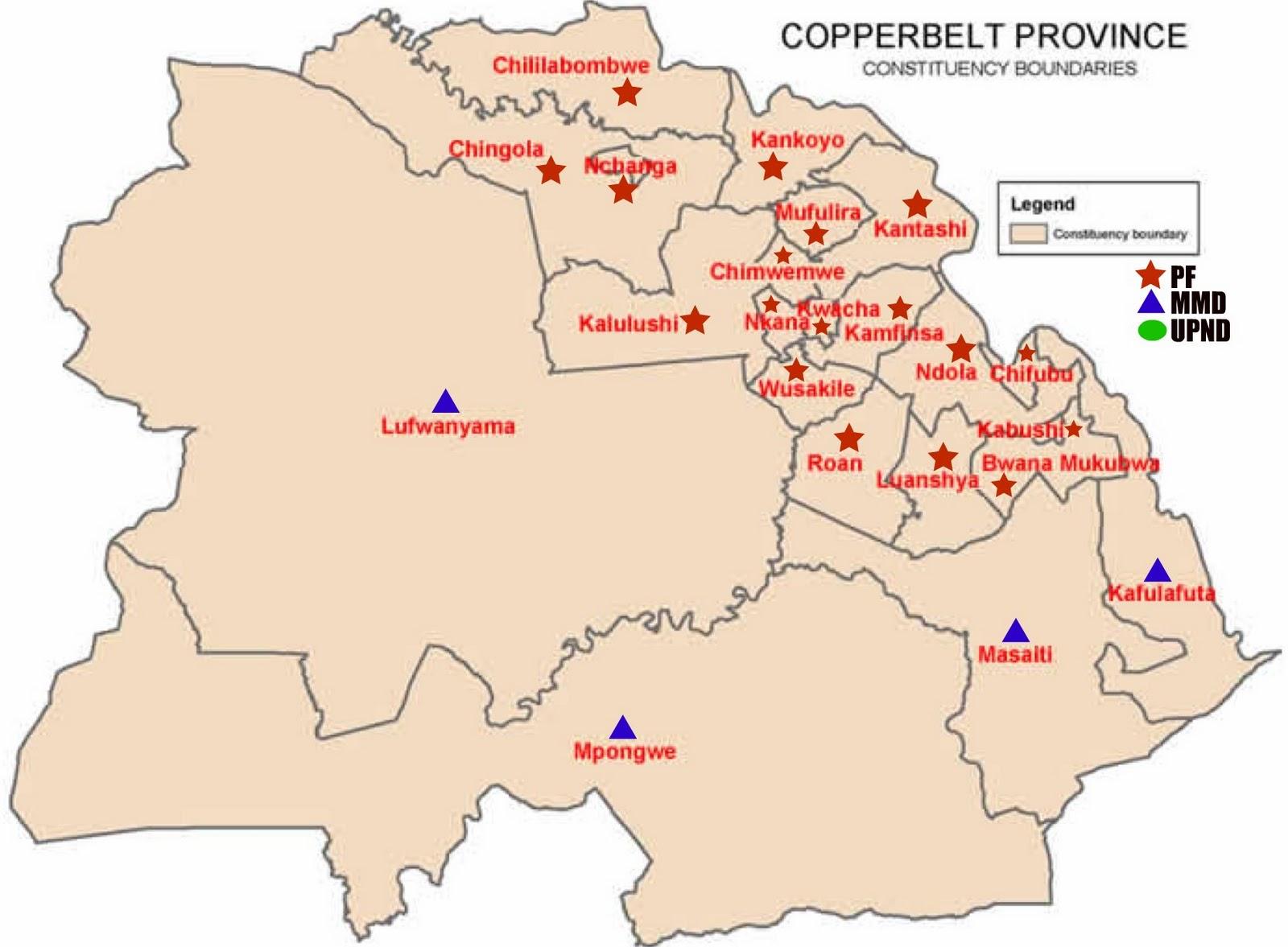Zambian Economist: Zambia Elections 2011 : Constituency Maps ...