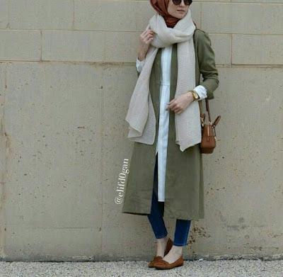 hijab-avec-foulard-long-en-hiver-2019