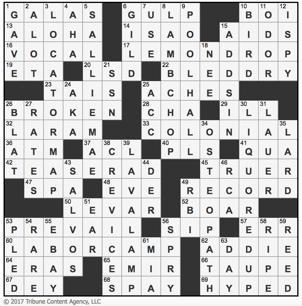 L.A.Times Crossword Corner