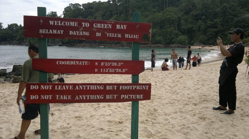 Lokasi Pantai Teluk Hijau Banyuwangi