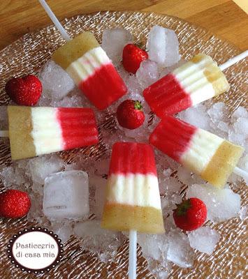 ricetta ghiaccioli tricolore di pasticceria di casa mia