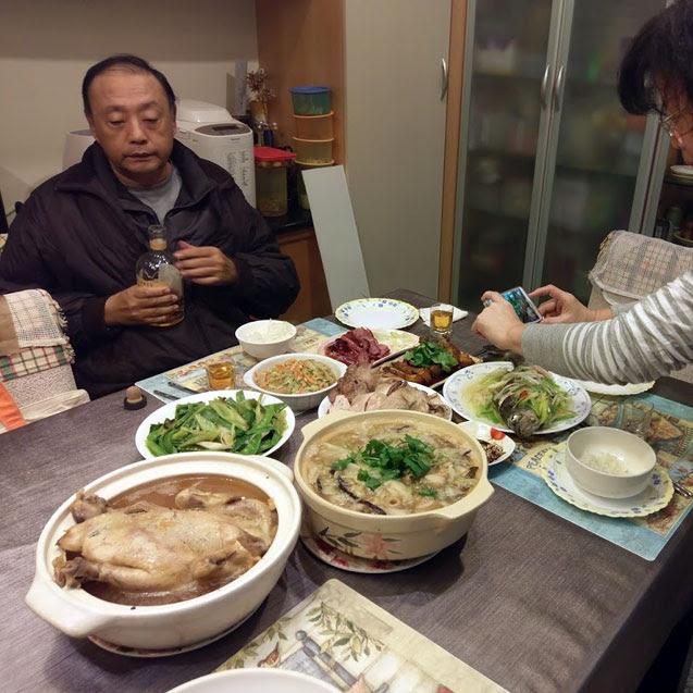 三人團圓年夜飯
