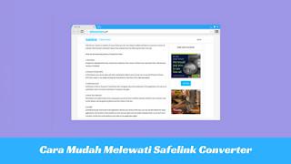 Cara Mudah Melewati Safelink Converter