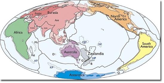 Mapa Mundi 8 Continentes