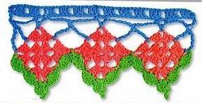 Patrón #1432: Puntilla a Crochet