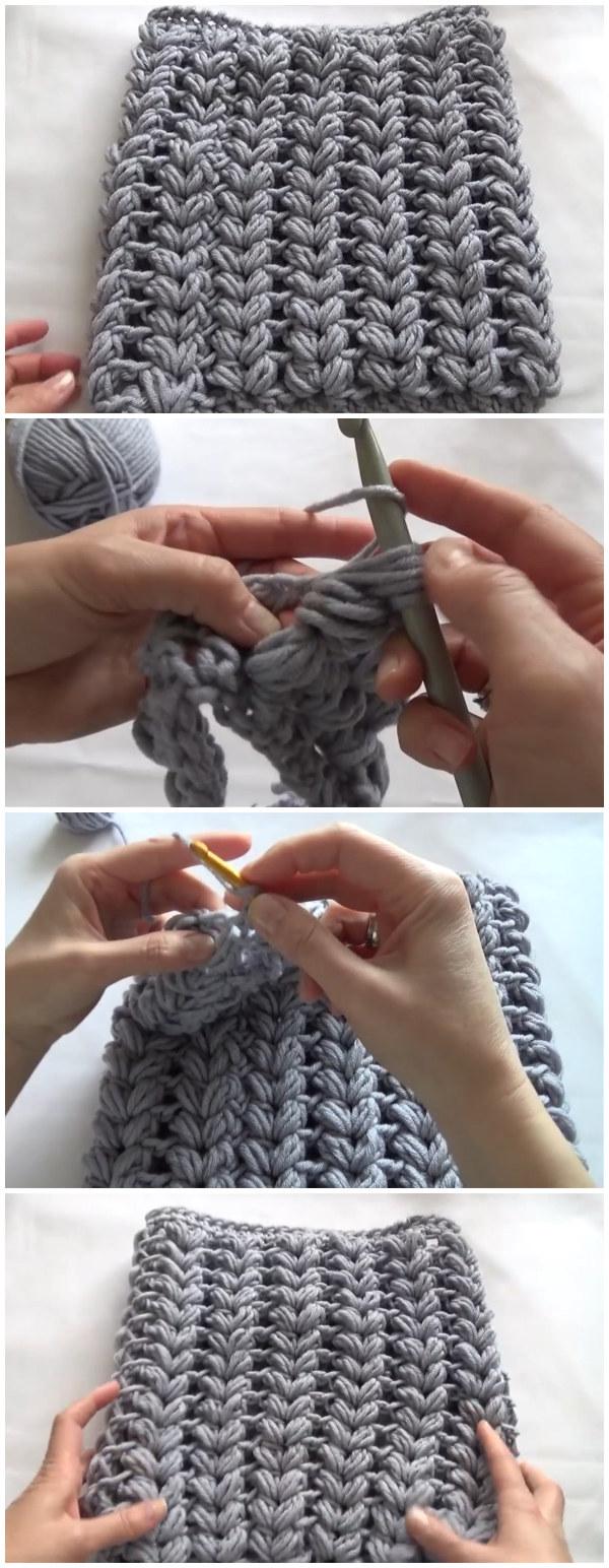 V-Shaped Puff Stitch