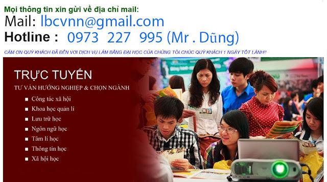 Nơi làm bằng đại học uy tín nhất Việt Nam