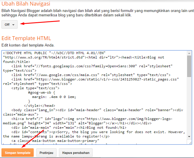 "Template Blogger ""Blog Not Found"""