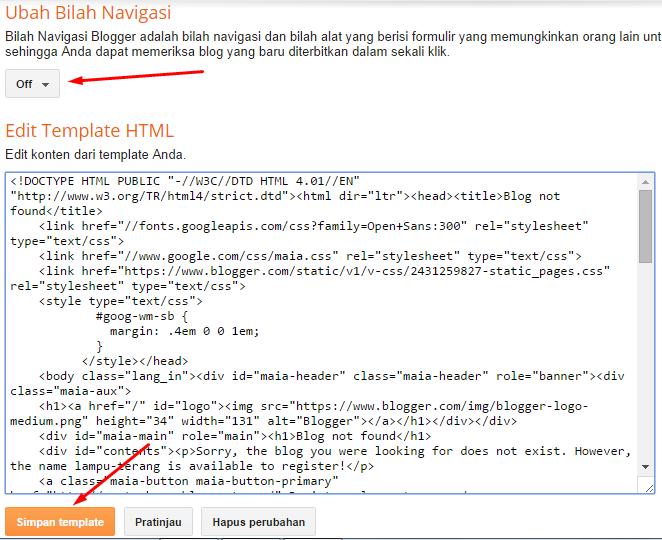 "Template Blogger ""Blog Not Found"""