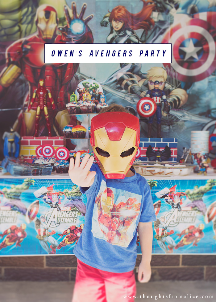 avengers superhero themed birthday party for kids