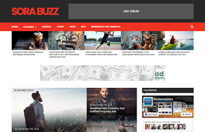 Sora Buzz responsive free blogger template 2016