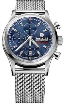 BRELLUM Duobox Chronometer watch blue dial