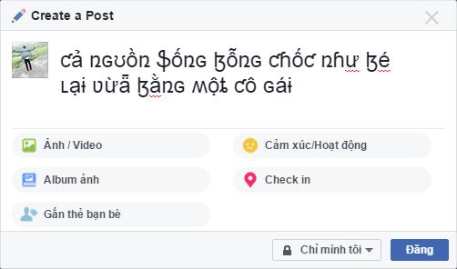 Hướng dẫn tạo kiểu chữ độc lạ trên Facebook 3