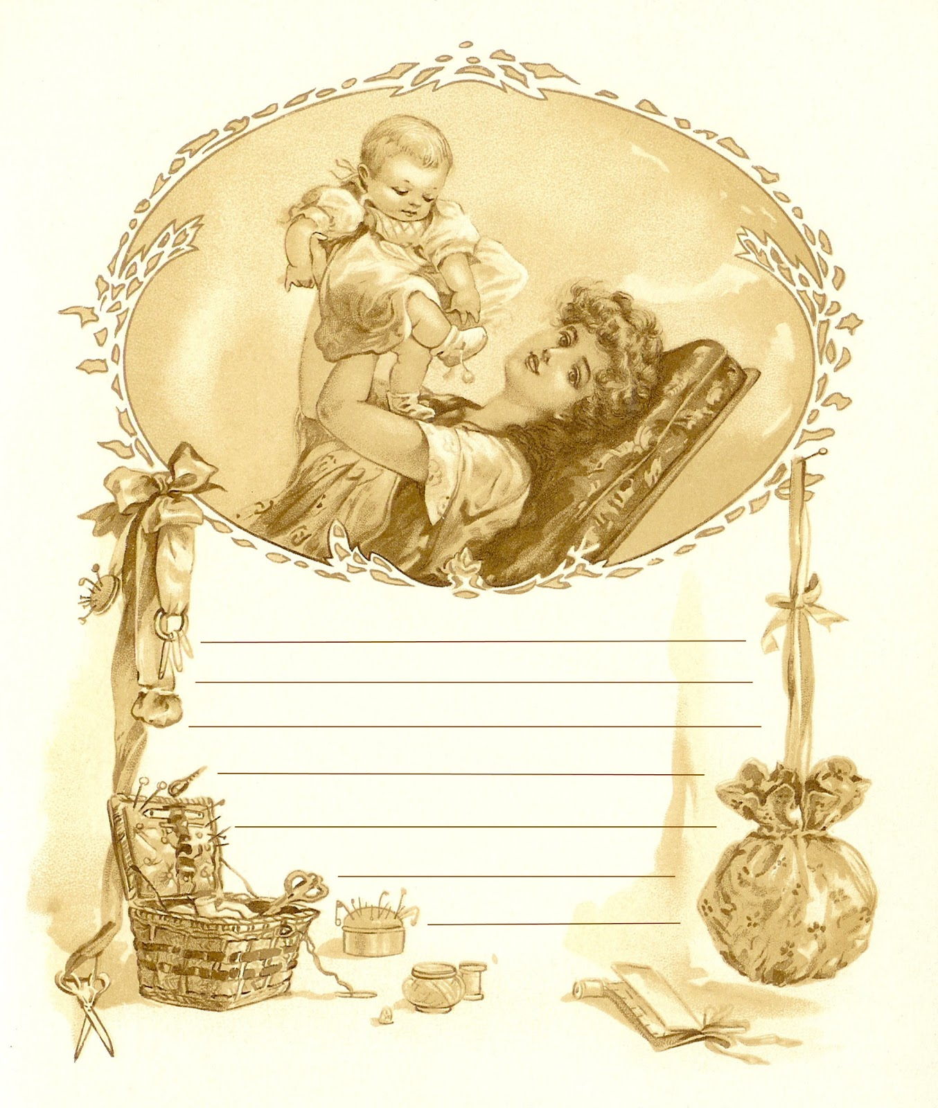 Antique Images: Free Baby Journaling Spot: Antique Baby ...