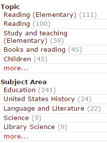 Topics and Subjects in library catalog