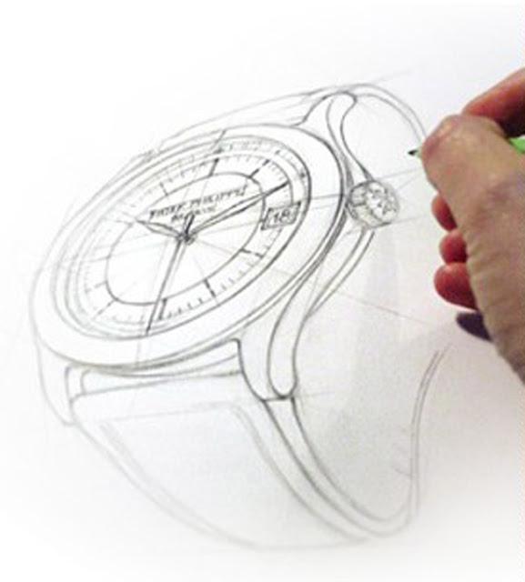 Dibujo de reloj Patek Phillippe