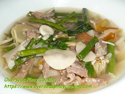 Dinengdeng with Beef Soured with Tamarind Recipe