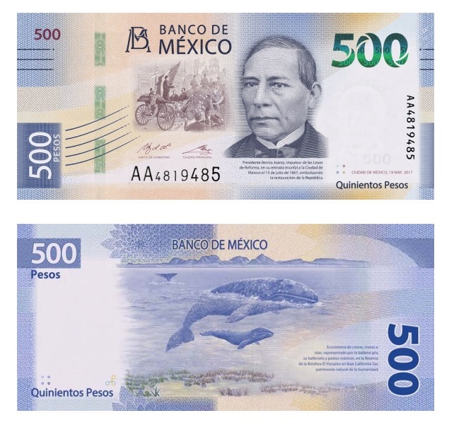 Mexico Issued A New 500 Peso Banknote