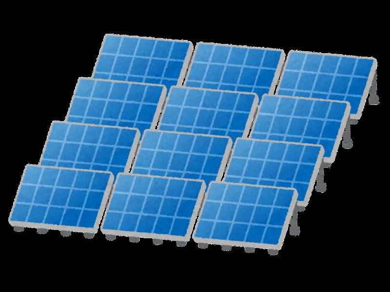 沢山並んだソーラーパネルのイラスト かわいいフリー素材集 いらすとや