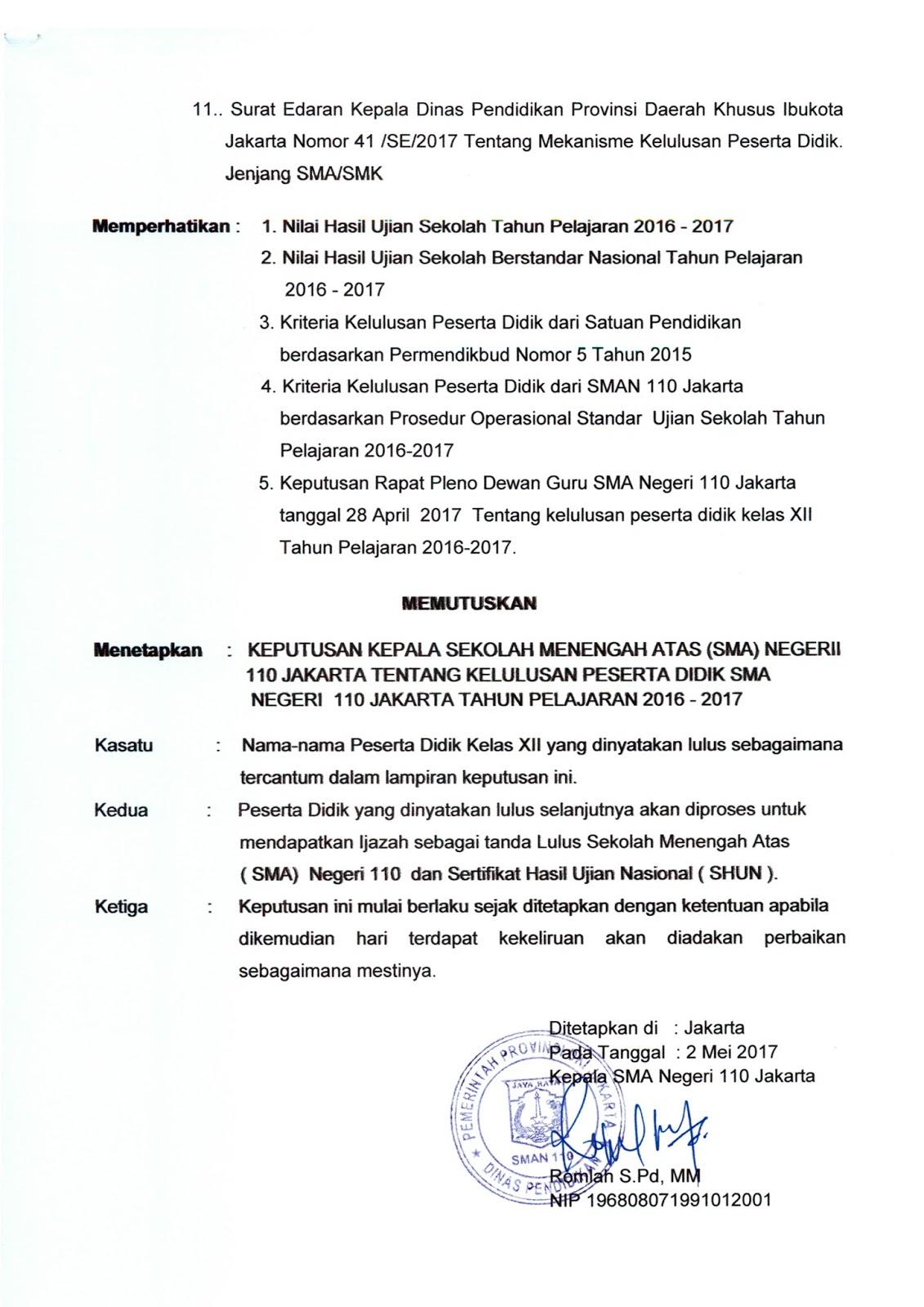 SK Kelulusan 2017