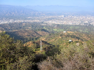 View northeast from Mount Bell, Griffith Park