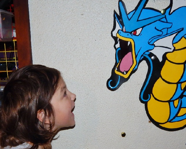 My daughter yelling at Gyarados