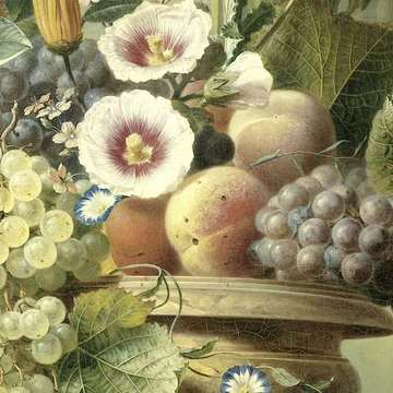 Still Life with Flowers and Fruit, Eelke Jelles Eelkema, 1815 - 1830 (fragmento)