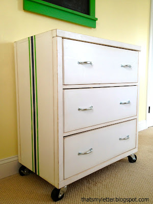 diy kids dresser with stripes