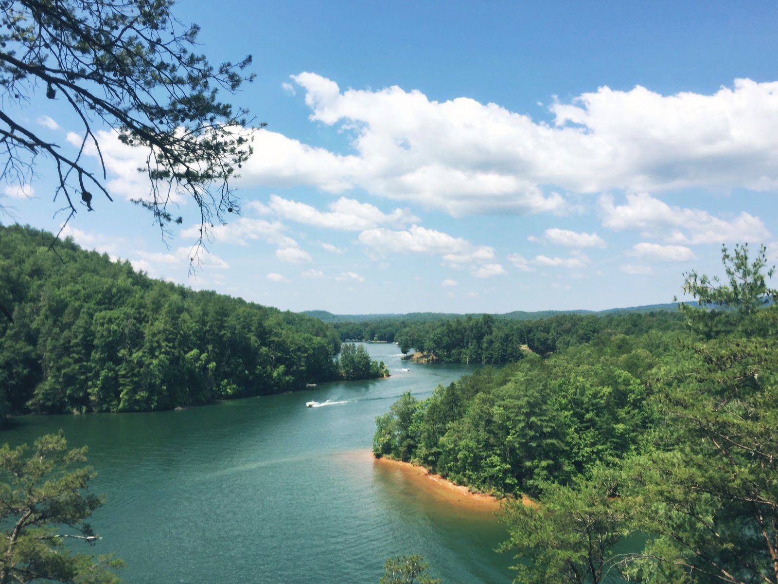 raven rock trail, lake keowee, hiking, south carolina, state park, camping
