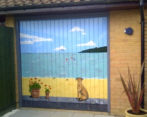 painted garage mural