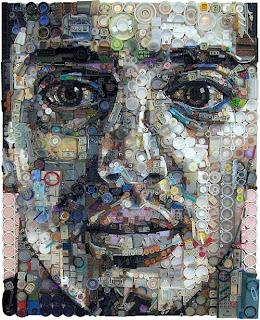 Arte hecho con plastico reciclado -Retratos