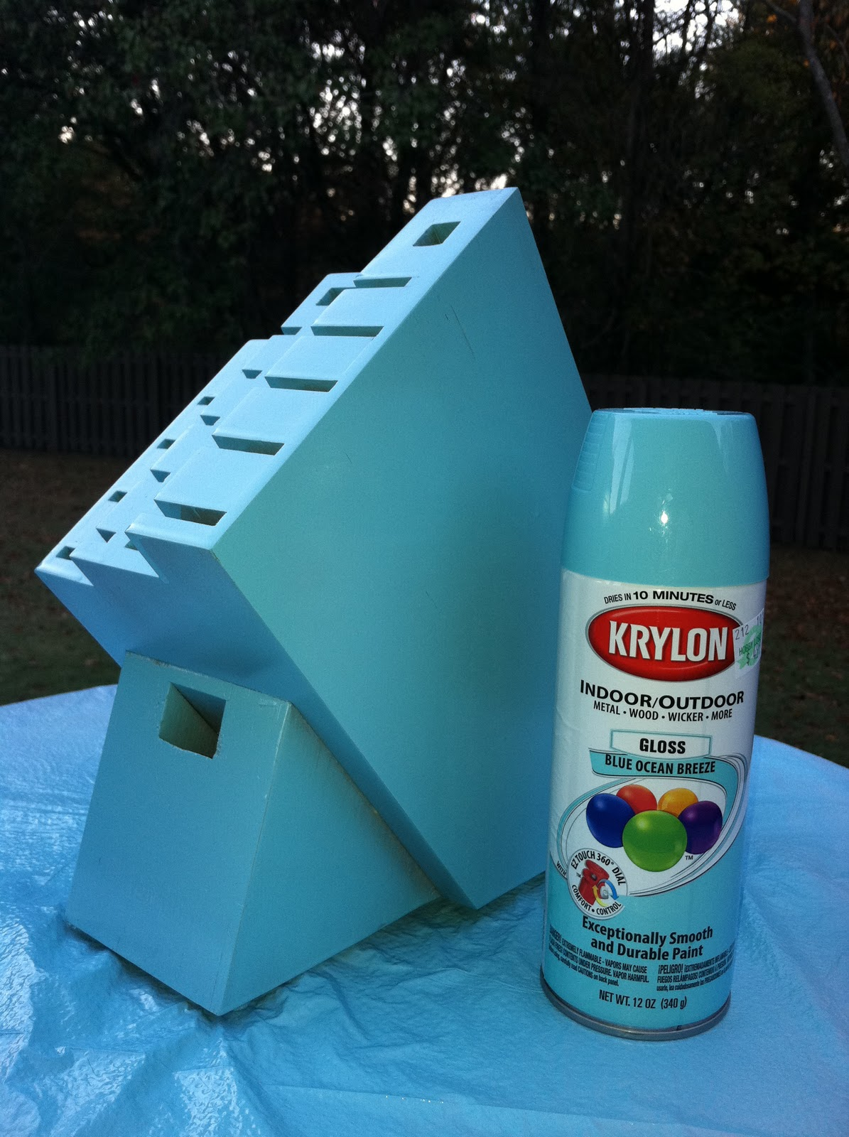 I Picked Up Two Krylon Spray Paint Colors Ocean Breeze And Ivy Leaf First Sprayed Blue