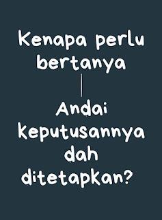 Buat apa tanya?